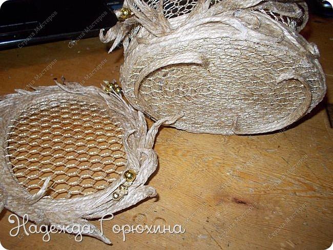 """Шкатулка """"Лето золотое"""". Выполнена из джута (натуральный цвет), золотой сетки (текстильная), золотых бусин. Высота шкатулки 7 см. фото 6"""