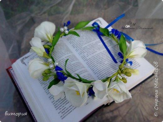 Начала работать над свадебным заказом.Статица,фрезия и эустома,еще жемчуг. фото 2