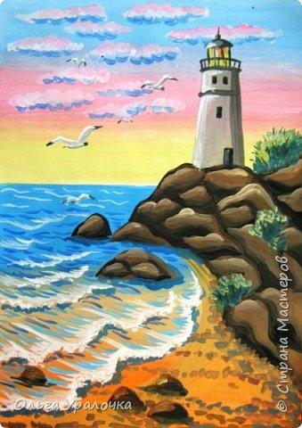 """Вот и пришло долгожданное лето! Хочется на на природу ближе к воде, а еще лучше на море. И мне хотелось бы приложить вашему вниманию мастер-класс по рисованию """"Пейзаж. На морском берегу"""". Работа может быть выполнении как людьми с опытом рисования, так и новичками. Рисунок будем выполнять поэтапно. Работа выполняется без предварительного рисунка. Нам понадобятся: гуашь ватман формата А-3., нейлоновые кисти под номерами 2, 3,5. фото 33"""