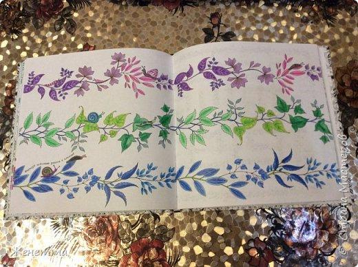 Таинственный сад. Раскрасила самую первую иллюстрацию, которая идет сразу после обложки)) (совершенно не помню как называется этот разворот...) фото 4