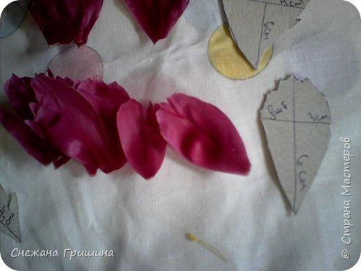 Здравствуйте дорогие жители Страны Мастеров!!! Сегодня я разобрала пион ,может кому то будет интересно и послужит наглядным примером для создания цветов из фоамирана и холодного фарфора или п/глины.... фото 18