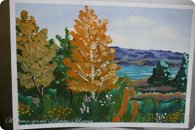 """Сегодня я с рисунками. Пейзаж """"Французский домик"""" Масло фото 3"""
