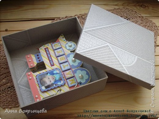 Всем привет!!!!! Хочу показать коробку для альбома. Коробка выполнена полностью с нуля, из переплетного картона. Размер коробки 20,5 * 20,5 см. фото 2