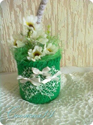 Всем доброго времени суток! Рада приветствовать вас у себя в гостях ))  Cделала цветочный топиарий в подарок фото 2