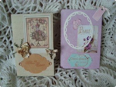 Добрый вечер! Хочу показать вам свои простенькие открыточки... Вот сделалось сразу три... в разной цветовой гамме, но очень похожие друг на друга... фото 19