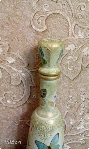 Добрый день! Вот неуглядела и бутылочка осталась не показанной. Заказ был на оливковый цвет и много бабочек. фото 11