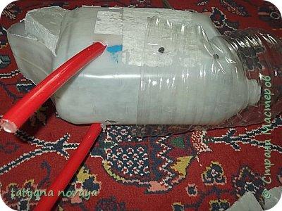 Добрый день всем жителям СМ! Хочу поделиться опытом по созданию лебедей из пластика. Я покажу как выполняла чёрного лебедя и немного белого. фото 8
