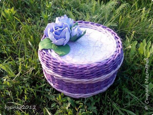 Здравствуйте дорогие мастера! Немного получилось выкроить времени на любимое плетение и получились вот такие летние шкатулочки! фото 2