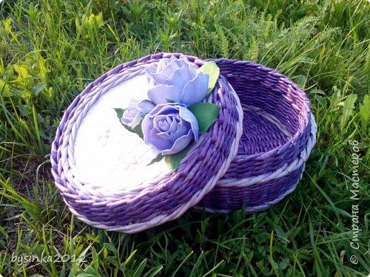 Здравствуйте дорогие мастера! Немного получилось выкроить времени на любимое плетение и получились вот такие летние шкатулочки! фото 4