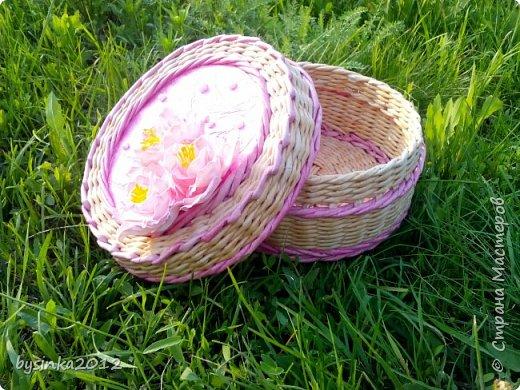 Здравствуйте дорогие мастера! Немного получилось выкроить времени на любимое плетение и получились вот такие летние шкатулочки! фото 5