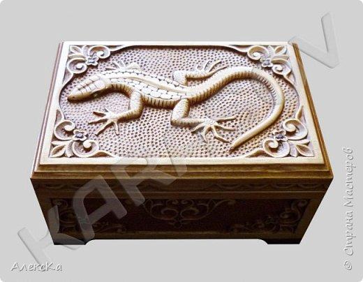 Шкатулка с ящерицей фото 1
