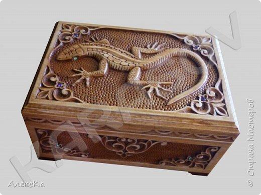 Шкатулка с ящерицей фото 2