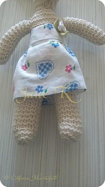 Здравствуйте!!!  Это юбочка для моей вязаной зайки. фото 2