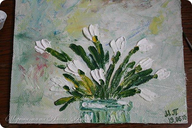 Сегодня нарисовалось. Первоцветы. Масло. фото 1