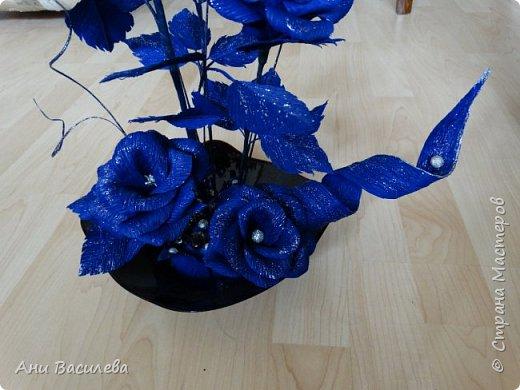 рози в сребърно-синьо фото 2
