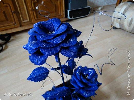 рози в сребърно-синьо фото 3