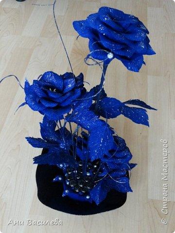 рози в сребърно-синьо фото 1