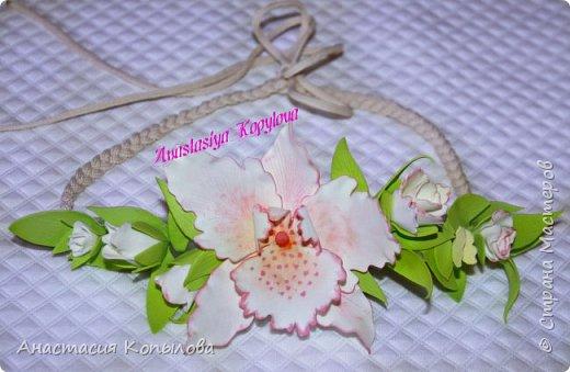 повязочка м орхидейкой фото 3