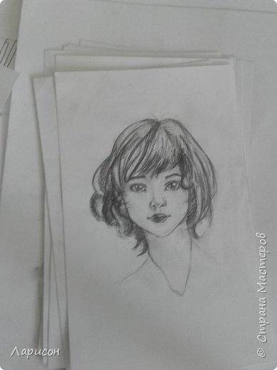 Работы Марии за второе полугодие в универе. На 4 нарисовала... мне ,вообще, лица не даются... Работы на разных форматах, есть на альбомном, а есть и побольше... фото 9