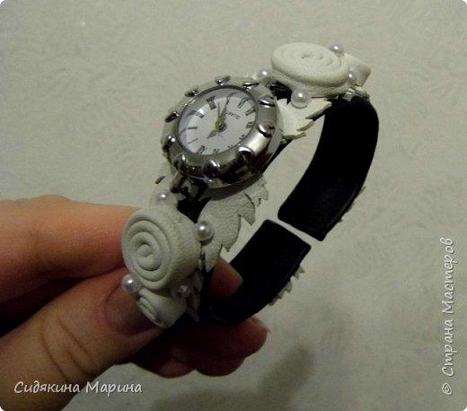 часы-браслет из кожи фото 5