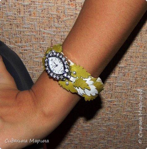 часы-браслет из кожи фото 7