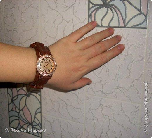 часы-браслет из кожи фото 4