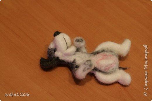 Вот такой песик был свалян в подарок на день рождения дочурки))) фото 3