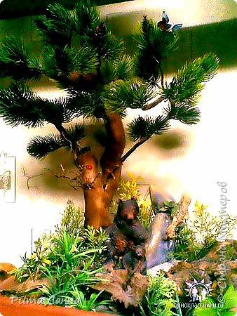 ПЕРСИК - корень , листики из ткани и персики с пенопласта ( из магазина ) фото 3
