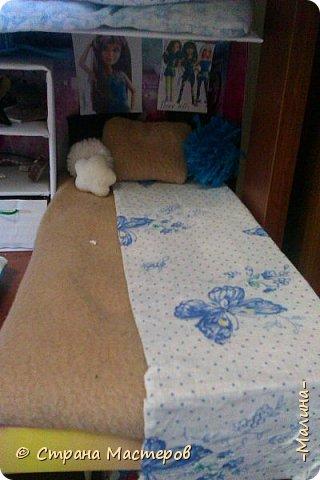 Привет СМ!  Так-как у меня появилась новенькая кукляша- Мили мне пришлось думать о том куда и с кем её поселить... хотела оставить всё как было ,но поставить новую кровать, а в итоге я выбросила все кровати и сделала двухэтажную кровать экономящую место в комнате... Сейчас я вам покажу эту комнату ( в ней поселились Элла и Мили) фото 4
