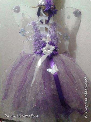 С этого ободка всё началось:)))) Пыталась сделать внучке платье феи на Новый год. фото 2