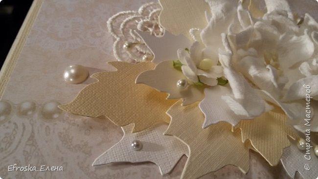 """У меня сотворилась свадебная открытка. Цветы готовые, а листья вокруг - это вырубка. Нож """"Пуансетия"""" фото 6"""