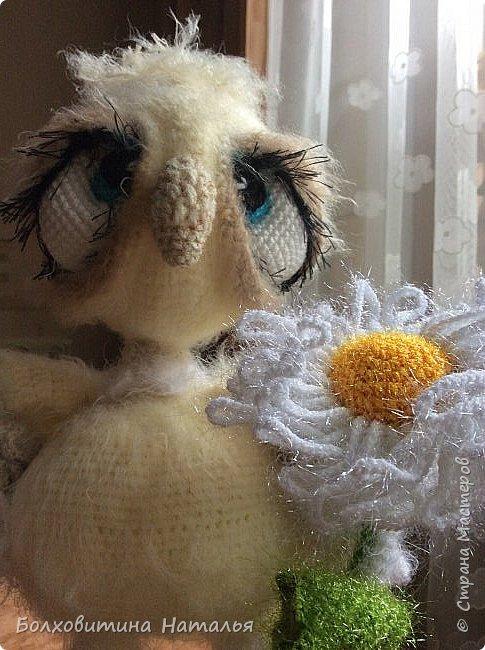Совенок ромашковый, связан по МК Светланы Романенко, сайт Амигуруми фото 7