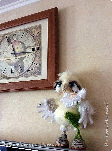 Совенок ромашковый, связан по МК Светланы Романенко, сайт Амигуруми фото 8