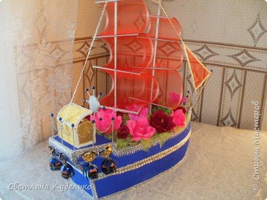 Добрый день жители страны.Вот еще один корабль сотворился,сделала в подарок любимому брату на день рождения.Жду ваших отзывов,критики. фото 2