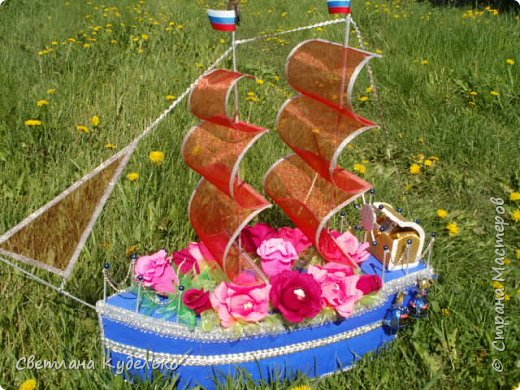 Добрый день жители страны.Вот еще один корабль сотворился,сделала в подарок любимому брату на день рождения.Жду ваших отзывов,критики. фото 1