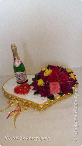 Вот такое сердечко я сделала для своих друзей на свадьбу. А теперь обещанный Мастер - класс  о его изготовлении