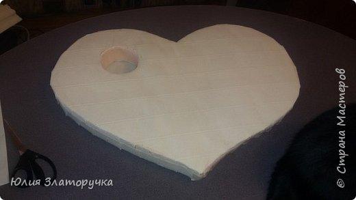 Вот такое сердечко я сделала для своих друзей на свадьбу. А теперь обещанный Мастер - класс  о его изготовлении фото 4