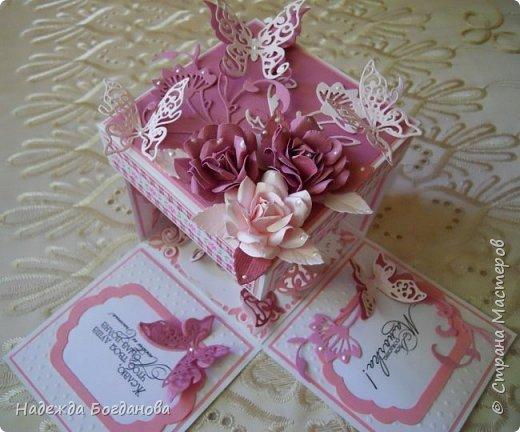 Здравствуйте жители СМ! Представляю Вам новую работу.Коробочки сделаны в подарок двум очень дорогим женщинам: свекрови     и маме, которые рождёны в один день. фото 6