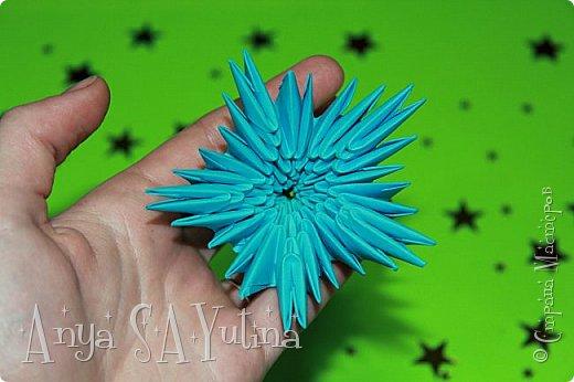 Здравствуйте) Сейчас я вам расскажу и покажу, как делать этот голубой цветок техникой модульное оригами. Чтобы посмотреть урок, спуститесь чуть ниже по странице:) фото 2