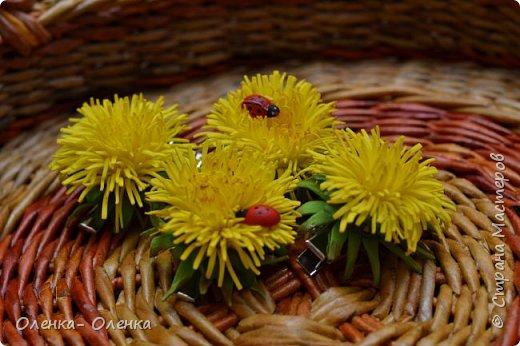 Лето, солнышко, цветочки- одни из любимых это одуванчики. Заколочки для маленьких принцес. фото 1