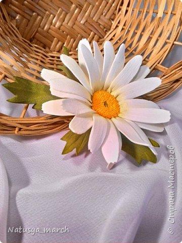 Яблоневый цвет на зажиме для волос фото 8