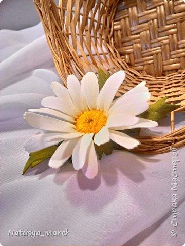 Яблоневый цвет на зажиме для волос фото 9