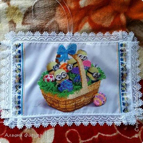 Работы моей дочери,вышивка бисером на холсте. фото 10