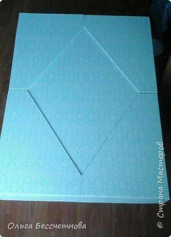 Заказали мне большую подарочную коробку под свадебное платье.Размеры очень внушительные: 80 см *60 см* 25 см. Представляю мою работу на ваш суд.  фото 5