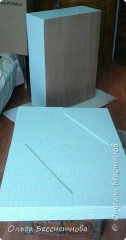 Заказали мне большую подарочную коробку под свадебное платье.Размеры очень внушительные: 80 см *60 см* 25 см. Представляю мою работу на ваш суд.  фото 6