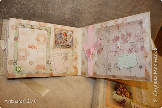 Альбомы-близнецы созданы для крестной мамы и для крестного папы малышки Марии. фото 8