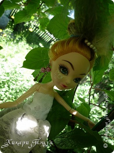 """Всем салют))) Сшила для Алексы платье и сделала плюмаж, а еще""""подправила"""" ее покупные туфли. фото 5"""