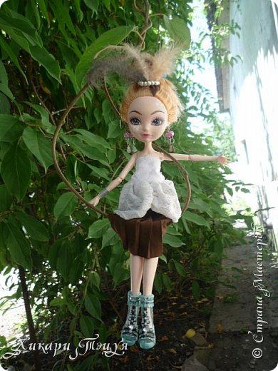"""Всем салют))) Сшила для Алексы платье и сделала плюмаж, а еще""""подправила"""" ее покупные туфли. фото 11"""