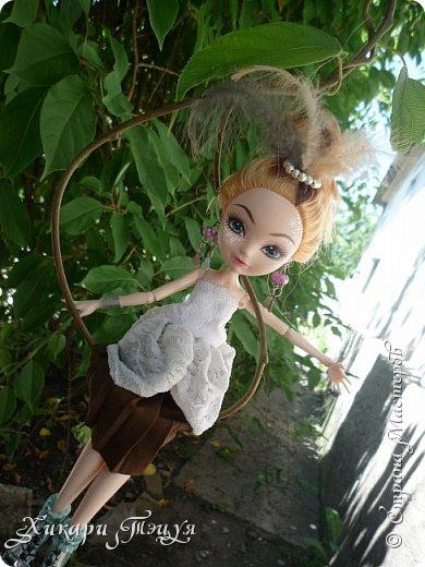 """Всем салют))) Сшила для Алексы платье и сделала плюмаж, а еще""""подправила"""" ее покупные туфли. фото 12"""