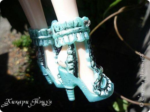 """Всем салют))) Сшила для Алексы платье и сделала плюмаж, а еще""""подправила"""" ее покупные туфли. фото 17"""